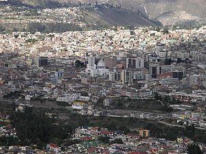 vista panoramica de l Centro y la Merced Ambato