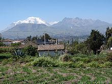 Volcanes Chimborazo y Carihuairazo vistos desde ambato